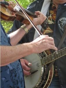 Bluegrass festival jammers