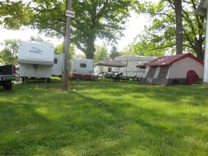 Camping includes RVs and tents
